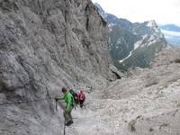 Titelbild des Albums: Haindlkar Hütte => Gsengscharte mit Seilsicherung , nur für Trittsichere und erfahrene Wanderer